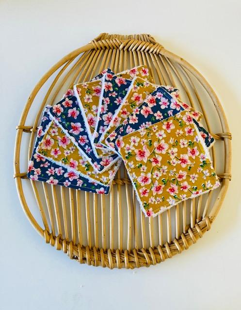 Lingettes lavables « Fleurs japonaises »