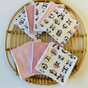 Lingettes lavables « Hello panda »