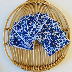 Lingettes lavables « Liberty london betsy bleu »