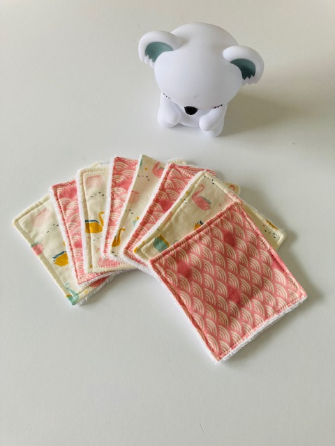 Lingettes lavables « Cygne Origami »
