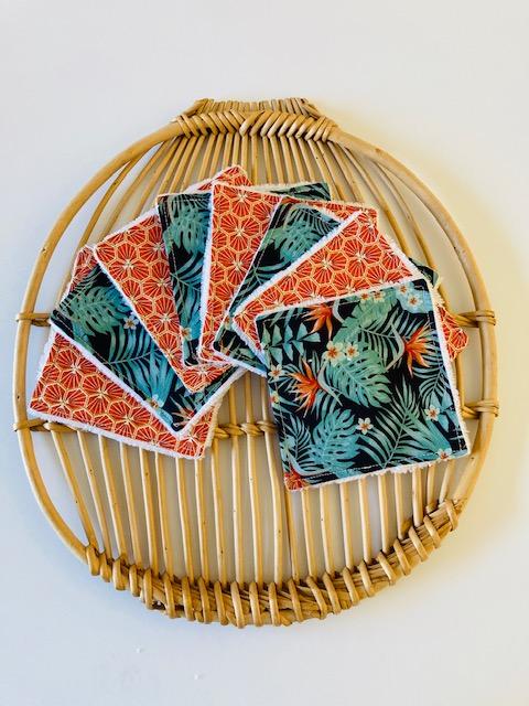 Lingettes lavables « Jungle »